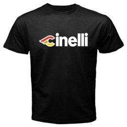 Bicycle Print Tops NZ - New Cinelli Bicycle Bike Logo Men's Black T-Shirt Size S to 3XL High Quality Custom Printed Tops Hipster Tees T-Shirt