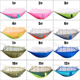 DHL Shipping Outdoor Camping Mosquito Nets Hammock Lightweight Parachute Nylon Camping Hammocks Sleeping Bags for Hiking Travel Backpacking
