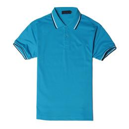 Polyester Short Sleeve Shirts Men Australia - New Men Fashion Brand Polo Shirt Luxury Polo Leisure Shirt for Men Short Sleeve Polyester Solid Casual Loose Summer Sport Size S-4XL Pure