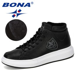 fashionable male shoes 2019 - BONA 2019 New Designer High Top Sneaker Men Lace-Up Casual Footwear Male Chunky Shoes Men Fashionable Comfortable Vulcan