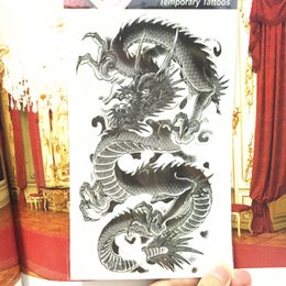 $enCountryForm.capitalKeyWord UK - Shnapign Black Chinese Dragon Temporary Tattoo Body Art,12*20cm Flash Tattoo Stickers,waterproof Fake Tatoo Henna Wall Sticker T190711
