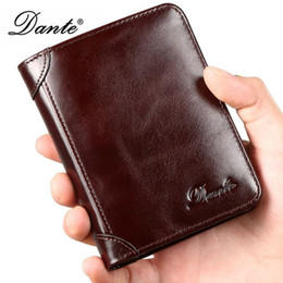 Discount american wallets - Women Genuine Cowhide Leather Wallet Extra Capacity Men Trifold Wallet Vintage Handmade Wax Genuine Leather Men Wallets