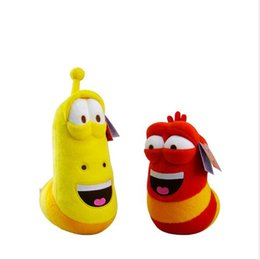 Wholesale Items Sold NZ - New Candice Guo Selling Item Fun Insect Slug Creative Larva Plush Toys Stuffed Doll For Boy Girl Christmas Birthday Gift