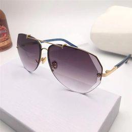 Diamond Uv Australia - New fashion women sunglasses 6 Cutting lens charming cat eye frameless diamond avant-garde design style top quality uv protection
