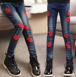 boys slim denim jacket Canada - 2020 spring children's clothes girls jeans causal slim thin denim baby girl jeans for big girls kids jean long trousers