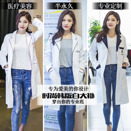 $enCountryForm.capitalKeyWord Australia - Korean Work Clothing White Coat Tattoo Division Beauty Salon Medicine Pharmacy Growth Short And Long Sleeve Nurse Uniform