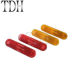 Bolt for Bike online shopping - Red And Yellow Motorcycle Bolt Rectangle Reflector Rear Tail Brake Stop For Most Motorcycles ATV Bikes Trailers