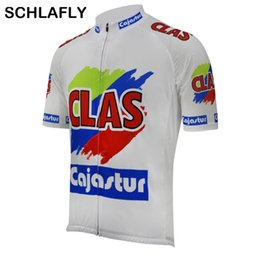 style jerseys NZ - Men clas cajastur team 1990 spain cycling jersey old style summer short sleeve bike wear road jersey cycling clothing schlafly