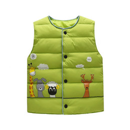 $enCountryForm.capitalKeyWord UK - Shujin Child Waistcoat Children Outerwear Winter Coats Kids Clothes Warm Cartoon Baby Boys Girls Vest For Age 3-8 Years Old
