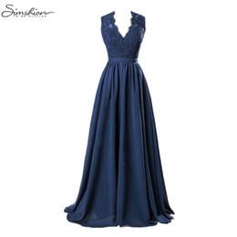 34aa4782fdd 2018 Summer Women Dress Sexy Deep V Neck Sleeveless Lace Dress Elegant Maxi  Long Dresses Evening Party Female Vestidos Plus Size Y19012201