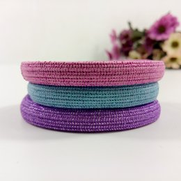 elastic head bands Canada - 3 Colors sparkle hair ring bright line fashion printing hair rope Jewelry horse tail tie elastic durable sturdy Hair Rubber Bands VIP GIFT