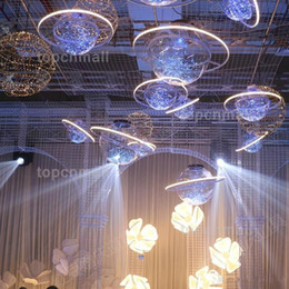 $enCountryForm.capitalKeyWord Australia - New Arrival Shine LED Flash Star Ball Wedding Showcase Decoration Space Planet Hanging Ornament Chandelier Free Shipping