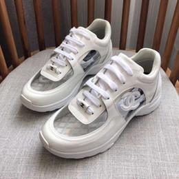 1b716ccd Diseñador de lujo para hombre zapatos casuales de corte bajo zapatillas de  deporte transparentes superestrellas Moda Clásico de las mujeres zapatos de  los ...