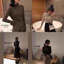 Vintage Knit Suit Australia - Love2019 Koreanslim Sleeve Head Sweater Girls Long Knitting Dress Other Clothes Rendering Unlined Upper Garment Suit-dress