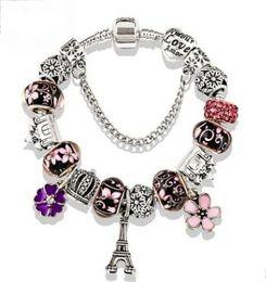 $enCountryForm.capitalKeyWord Australia - 18 19 20 21CM Charm Beads Designer Bracelets Luxury Women Silver Pandora Style Bracelets for Gift Wedding Jewelry Hot Sale
