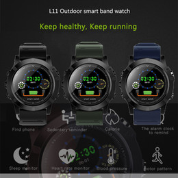Camera Modes Australia - L11 Smart Sports Watch HD Screen Button Control Wristband IP68 Waterproof With GPS SIM Camera Multiple Modes For Outdoor