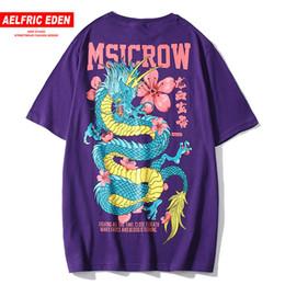 $enCountryForm.capitalKeyWord Australia - Aelfric Eden Chinese Characters Legend Dragon with Flower Print T Shirt Men Hip Hop Harajuku Cotton Casual Tshirt Streetwear