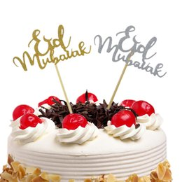 10pcs Cake Toppers Eid Mubarak Wedding Baby Shower Birthday Party Ramadan Decor Gold Black 8 Style Cupcake Topper Muslim Baking