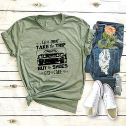 $enCountryForm.capitalKeyWord Australia - women short sleeve basic casual T-shits lady special print words shirts summer truck print green big size 5xl in stock shirt
