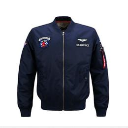 Wholesale mens nylon bomber jacket for sale – winter New Mens Clothing US Air Force MA1 Bomber Jackets Men Baseball Collar Flight Windbreaker Autumn Pilot Mens Jacket Varsity Homme