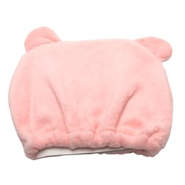 bored hair UK - Hat Towel Dry Hair Cap Cute Bear Soft Head Wrap Strong Absorbing Quick-dry Cartoon Shower