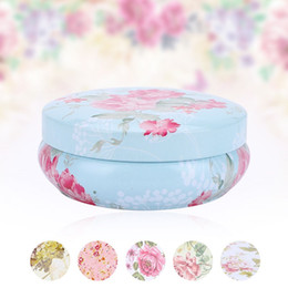 tin boxes wholesale NZ - 1Pc Retro Colorful Candy Flowers Storage Box Macaron Box Floral Tin Snack Vintage Storage Gift Wedding Favor Candy