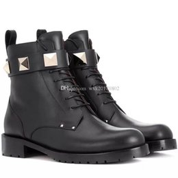 $enCountryForm.capitalKeyWord Australia - Home> Shoes & Accessories> Boots> Product detail vogue~TOP QUALITY~FASHIONVILLE* U480 BLACK GENUINE LEATHER ROCK STUD BELT THICK HEELS BOO