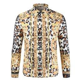 Plus Sized Clothing NZ - Shirt 2019 Brand Plus Size Floral Shirts Leisure Personality Print Long Sleeve Shirts Casual Holiday Vacation Clothing Camisas