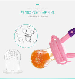 Silicone Baby Food Feeder NZ - Silicone Baby Pacifier Infant Nipple Soother Toddler Kids Pacifier Feeder For Fruits Food Nibler Dummy Baby Feeding PacifierSilicone Baby Pa