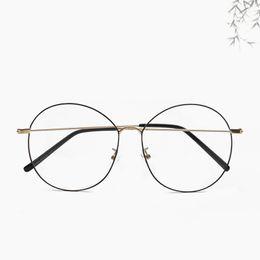 b51e59fb878 New Designer Glasses Optical Frames Metal Round Glasses Frame Clear lens  Eyeware Black Silver Gold Eye Glass Unisex