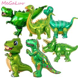 balloon dinosaurs Canada - ome & Garden 1pc Green Dinosaur Standing Foil Balloons Dinosaur Party Supplies Birthday Decoration Ballons Jungle Animal Part Supplies Gl...