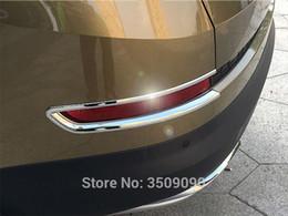 color changing car lights 2019 - For aq 2017 2018 Car Rear Fog Lamp Eyebrows Bumper Light Decor Strips Trim Car Stickers discount color changing car ligh