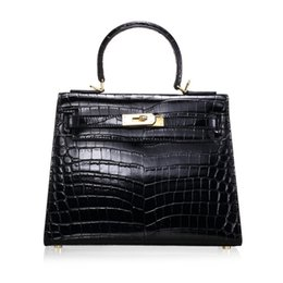 Wholesale Luxurious2019 Suokou Wen Crocodile Genuine Leather Woman Package Trend Joker Single Shoulder Span Cowhide Handbag