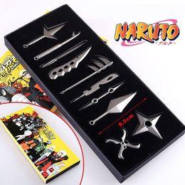 Weapons Cosplay Australia - [TOP] 10pcs set Anime Collection suit Cosplay Naruto Ninja Sasuke Kakashi weapons toy Stage performance props child kids gift
