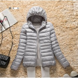 Cotton padded korean Coat online shopping - 2019 new light down cotton padded coat women short Korean version large size Slim thin hooded outside jackets warm coats