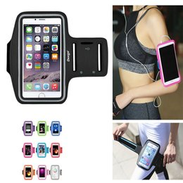 cell phone armband jogging Canada - Running Bags Men Women Armbands Touch Screen Cell Phone Arms Band Phone Case Sports Accessories for 7 Plus Smartphone