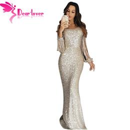 0fa4cf992 Dear Lover Sexy Sequin Dress Party Women Sexy Bodycon Nude Hollow Out Long  Sleeve Maxi Dress Vestidos De Festa Lc610992 Y19053001