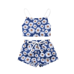 a15a5c5b1486 Cute Newborn Clothes Set Baby Girl Clothing Set Floral Clothes Flower Crop  Tops Shorts Pants Girls Outfits Toddler 0-24M