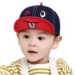 funny baseball Canada - Baby Baseball Cap Kids 2019 Spring New Girl Boys Cartoon Embroidery Hat Adjustable Soft Brim Hat Caps Funny Denim Casquette MZ7314