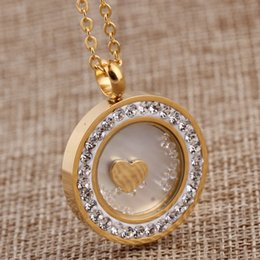 white gold disc pendant UK - Fashion-New Necklace Ladies Pendant Jewelry Wild Stainless Steel Necklace Stereo Disc Diamond Pendant Necklace