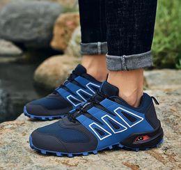Summer Waterproof Hiking Shoes NZ - 2019 Fashion Speed cross 3 CS III Running shoes Black Blue Gray Men Outdoor Speed Cross 3s Hiking mens sports sneakers 40-47