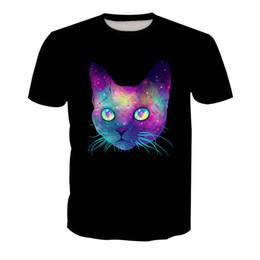 4ee2e5099b Men T-shirt galaxy cat 3D Digital Full Printed Man Graphic Tee Shirt Casual  Tops Unisex Short Sleeves Tees T-Shirts Blouse (RT-1349)