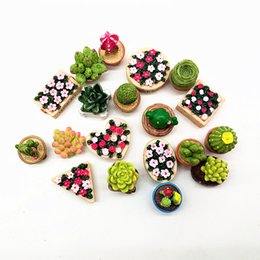mini garden gifts Australia - Resin Artificial 19pc Flower Set Miniature Fairy Garden Home Decoration Mini Craft Dollhouse Micro Decor Diy Gift Moving Forest