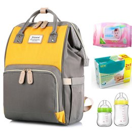 Wholesale pg86 Mommy Bag Shoulder Multifunctional Large Capacity Mom Bag Fashion Bag Bottle Diaper Backpack Travel Backpack Desiger Nursing Packs
