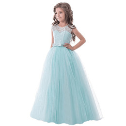 Baby Wedding Dresses Year UK - Flower Girl Elegant Wedding Dresses for Girls 11 Years Baby Girl Clothing Child Costume Party Princess Full Dress 12ys
