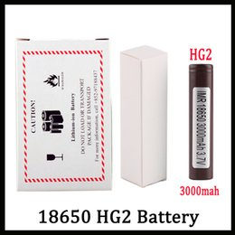 Batteries for lg online shopping - 100 High Quality HG2 Battery With mAh A MAX Rechargable Lithium Batteries For LG Cells Fit Vape Box Mod FEDEX UPS Shipping