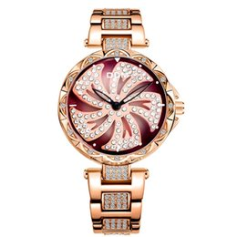 bronze decor Australia - DOM 2019 Quartz Watch Women Personality Rotating A Kite Dial Star-sky Female Bracelet Watches For Ladies Decor Montre Femme