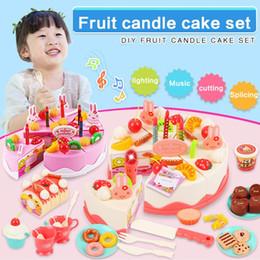Diy Boys Toys UK - DIY Pretend Play Fruit Birthday Candle Cake Cutting Music Lights Kitchen Food Toys Fashion New DIY Pretend Play