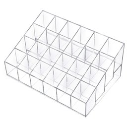 Wholesale Clear Acrylic Lipstick Holder Display Stand Cosmetic Organizer Makeup Case makeup organizer Display Stand Rack Holder