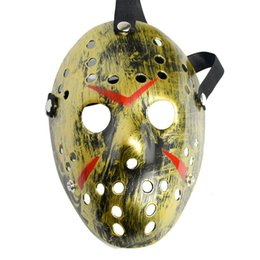 jason hockey mask UK - 2019 New Jason Voorhees Mask Friday the 13th Horror Movie Hockey Mask Scary Halloween Costume Cosplay Festival Party Mask Free shipping